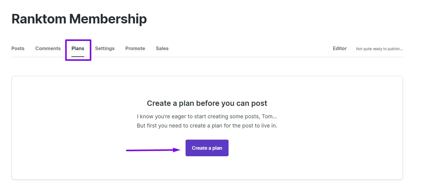 Créer un membership plan sur podia