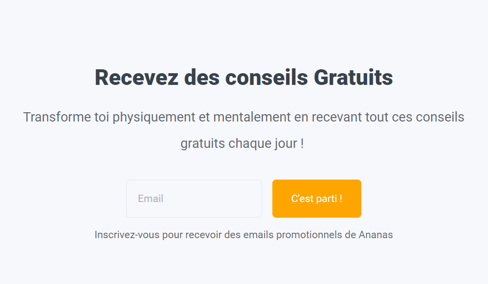 exemple formulaire newsletter podia