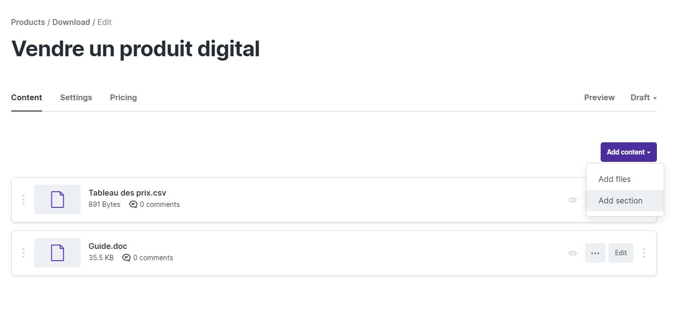 exemple produit digital podia